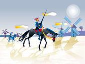 Fotografie Don Quijote und Sancho Panza