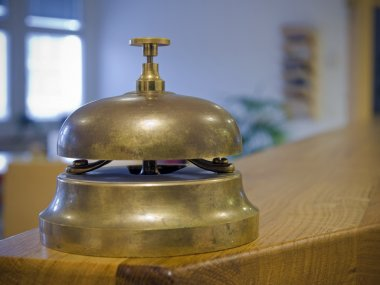 Antique bell on a counter