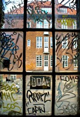 Detail of graffiti painted