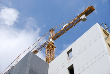 Crane and buildings