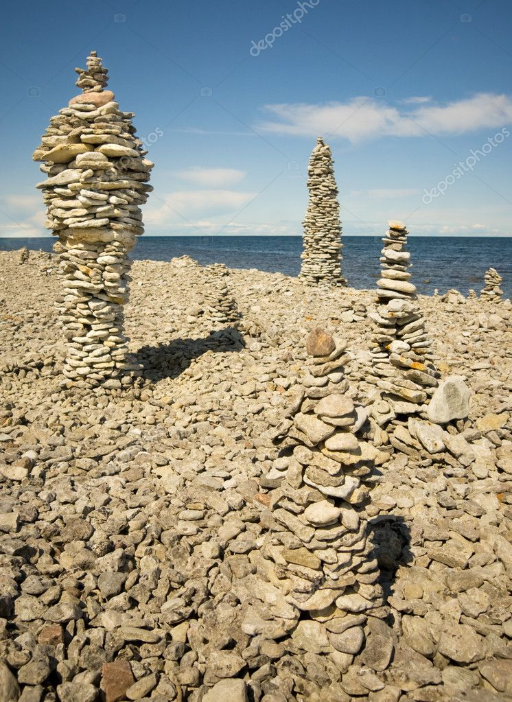 Piles of rock