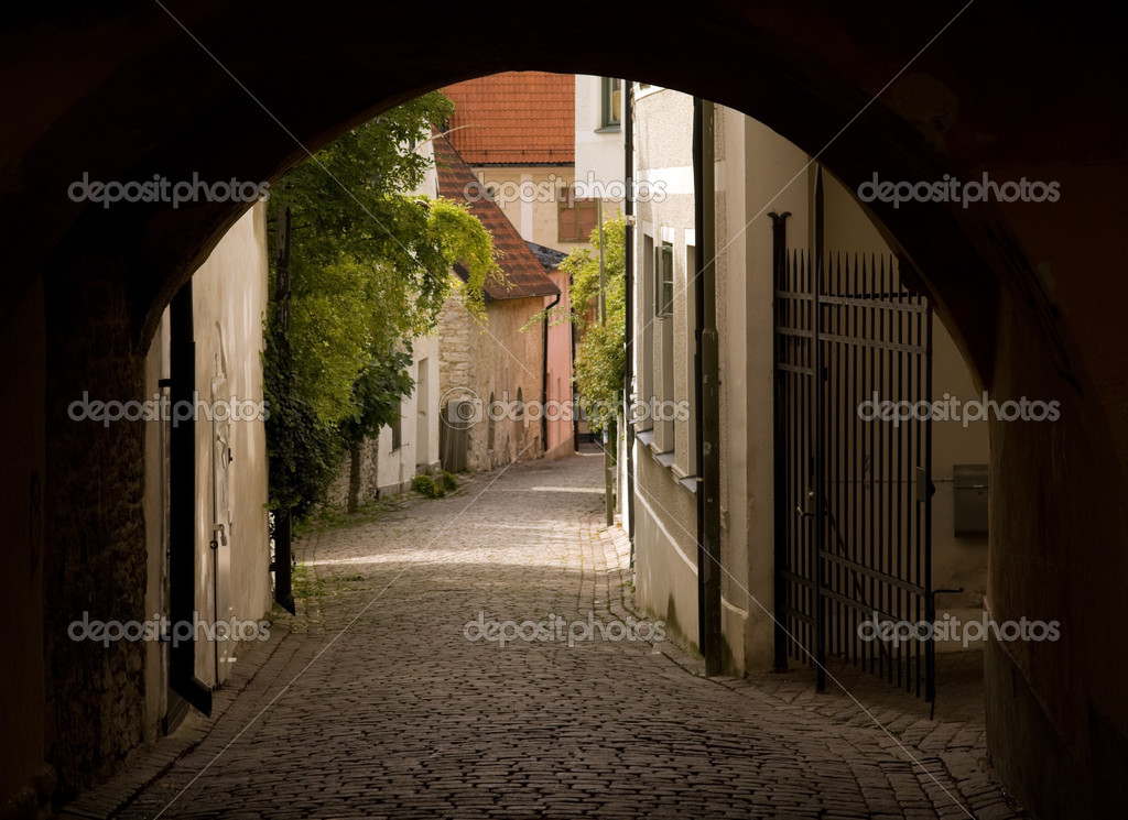 Фотообои Old street in Visby