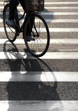 Cyclist on pedestrian crossing