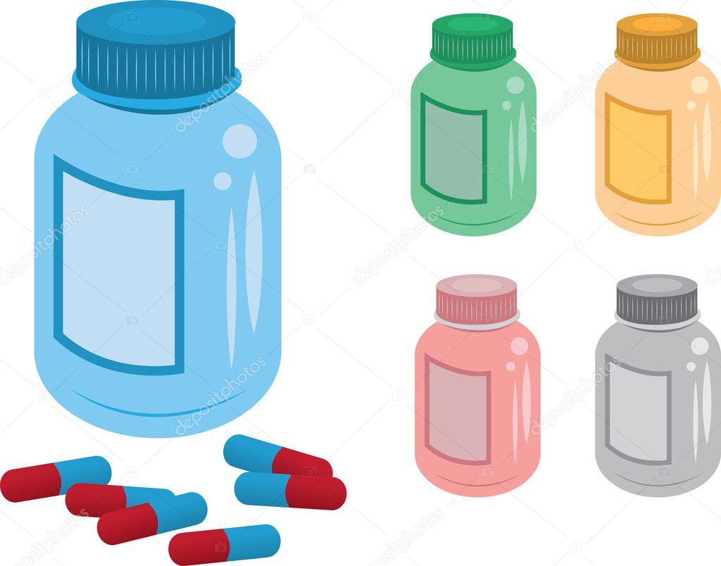 pill bottle stock vector milo827 8847241 rh depositphotos com pill bottle vector free download pill bottle vector free download