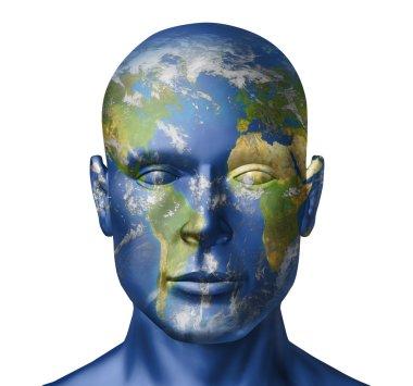 Earth human face