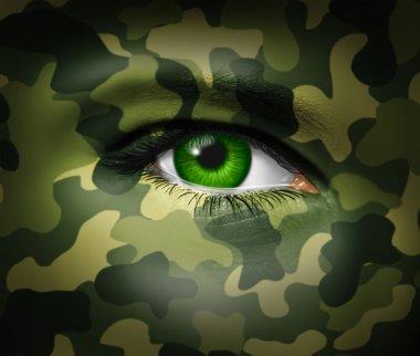 Camouflage Military eye