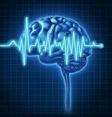 lidský mozek zdraví s EKG