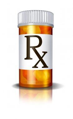 RX Prescription Drugs Pill Bottle