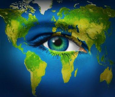 Human Eye Earth Planet