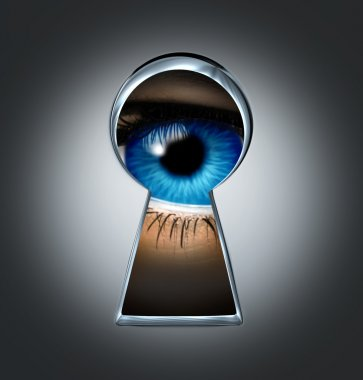 Eye Looking Through A Keyhole