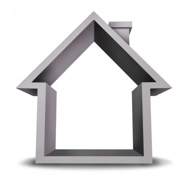 Home Icon with Blank Frame
