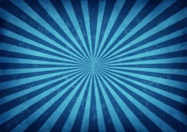 Blue Vintage Star Burst Design