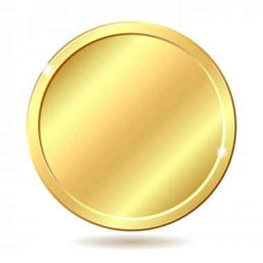Gold coin. Vector illustration isolated on white background stock vector