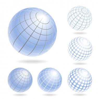 Abstract Globe Icons Set