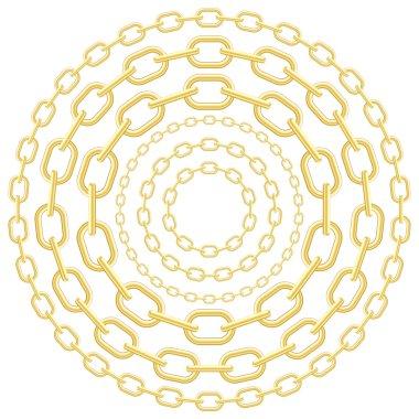 Gold circle chains