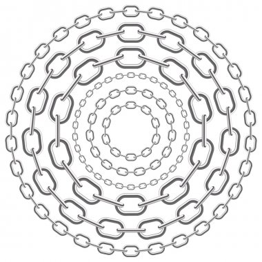 Metallic circle chains