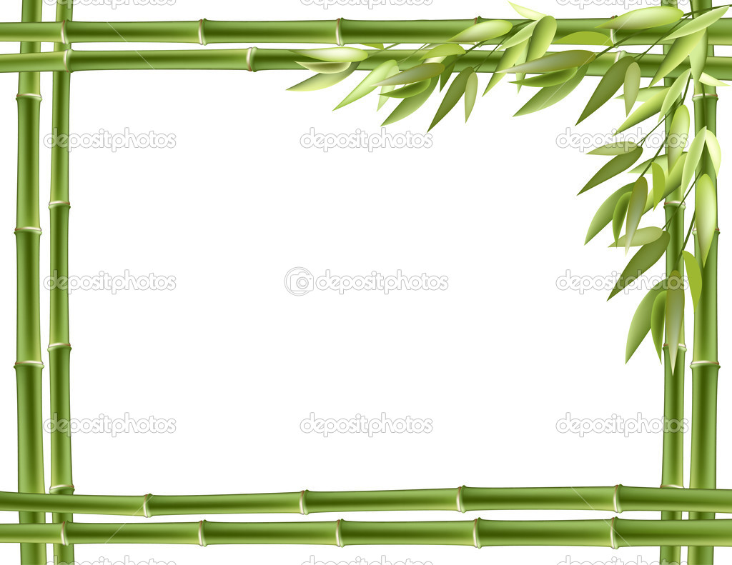 Bambus-Rahmen. Vektor-Hintergrund — Stockvektor © tassel #9101751