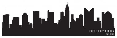 Columbus, Ohio skyline. Detailed vector silhouette