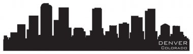 Denver, Colorado skyline. Detailed vector silhouette