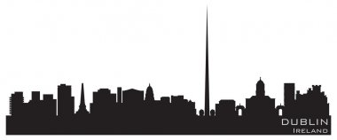 Dublin, Ireland skyline. Detailed vector silhouette
