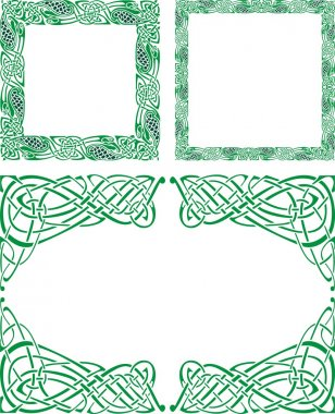 Celtic ornament borders