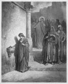 Jesus letzte Tage im Tempel; die Witwenmilbe