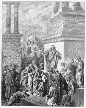 Jonah preaching to the Ninevites