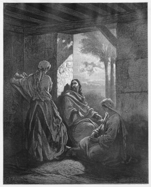 Jesus in the House of Martha and Mary