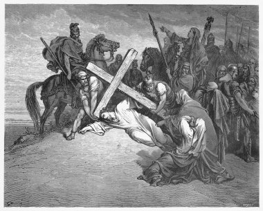 Jesus Arrives at Calvary
