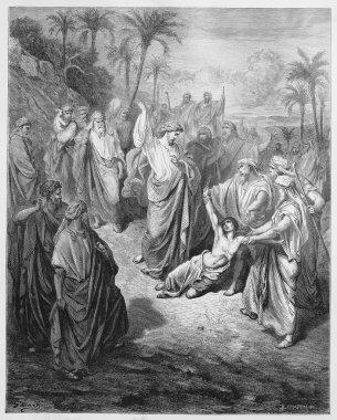 Jesus heals an epileptic