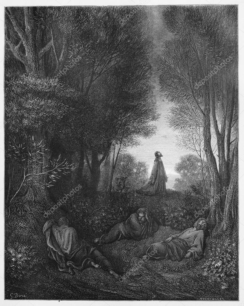 Excelente Dibujos Para Colorear De Jesús Rezando En El Jardín Friso ...