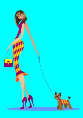 The girl with the doggie