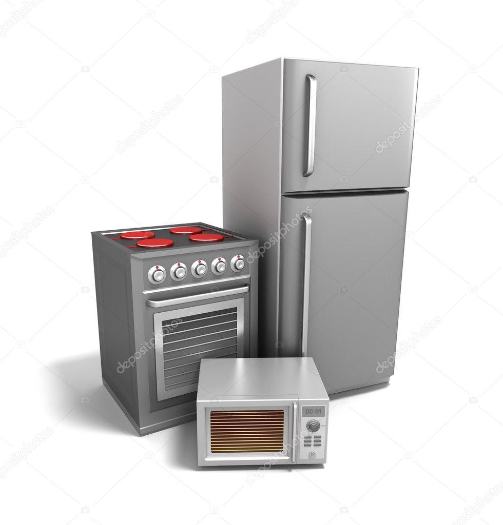 Kuchnia Elektronika Nad Białym Zdjęcie Stockowe Alexmit