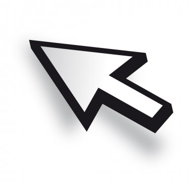 White 3D Vector Mouse cursor
