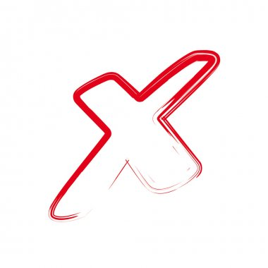 Vector red X cross sign icon