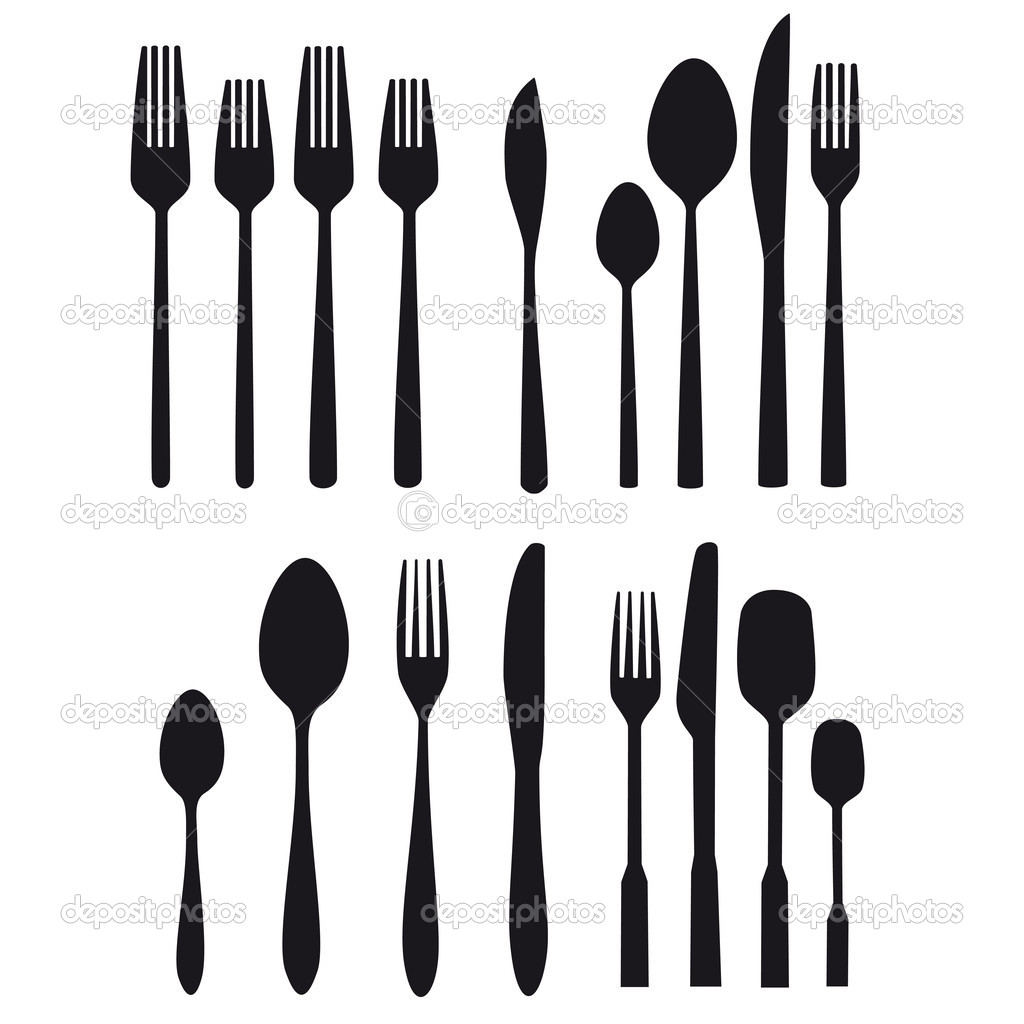 Cutlery Food Table Silverware Vector Kitchen Fork Spoon