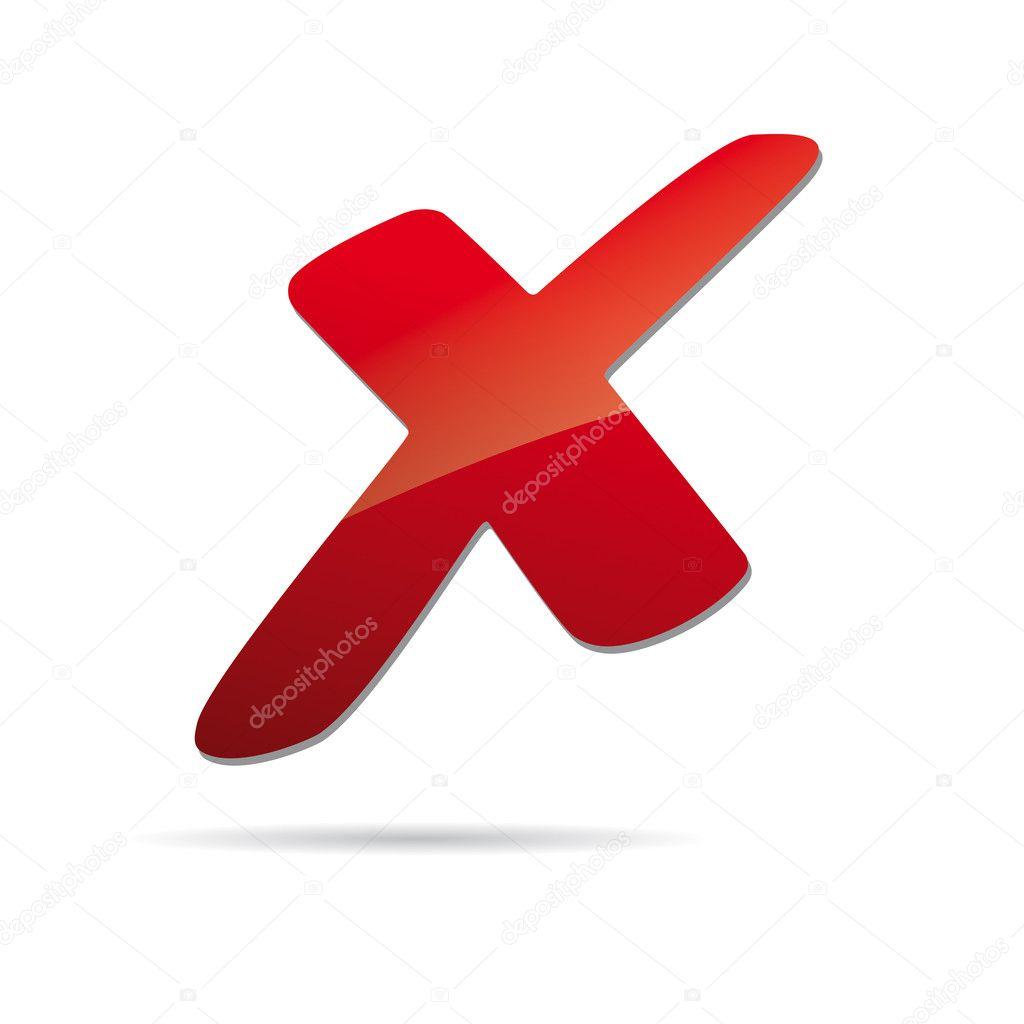 rotes x Kreuz Zeichen Symbol — Stockvektor #8737886 | {Rotes kreuz symbol 31}