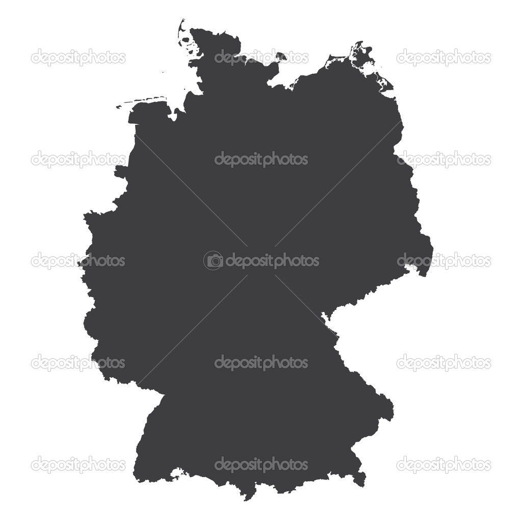 germany regions card map vector geo map brd federal republic of germany black red and gold