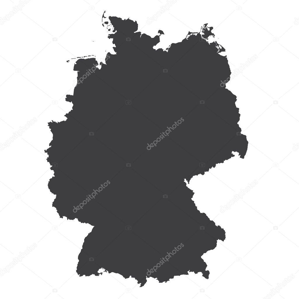 Duitsland Regio S Kaart Kaart Vector Geo Kaart Brd Duitse