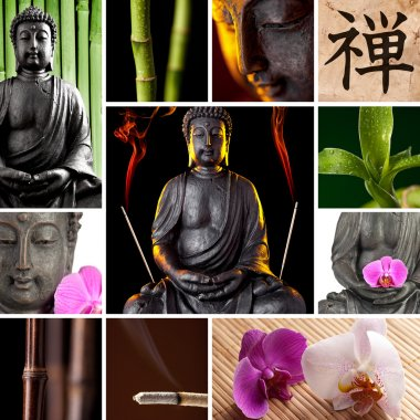 Buddha Zen Asia Collage