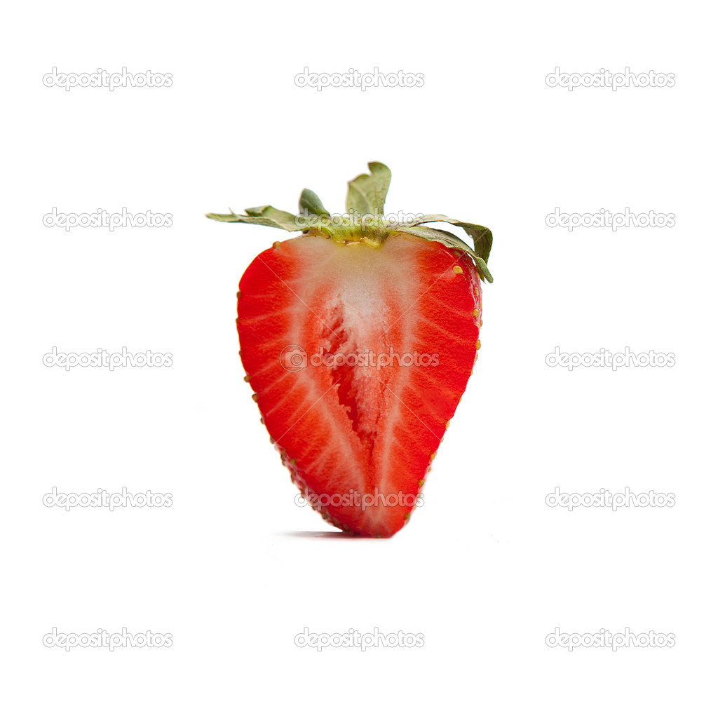 Red strawberrie on white background