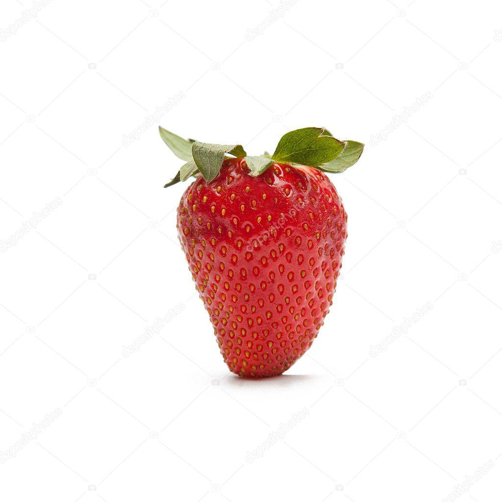 Red strawberrie on white backgorund