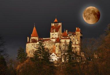 Dracula's Castle on full moon