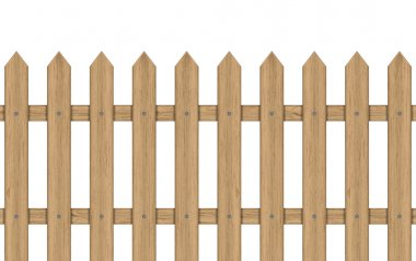 Vector illustration of wooden fence
