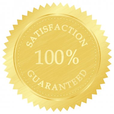 Vector illustration of gold guarantee stamp