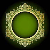 Fényképek vektor zöld  arany keretben