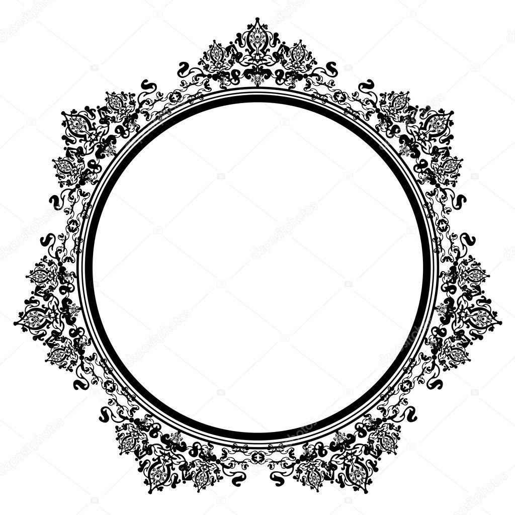 vector illustration of black vintage frame stock vector rh depositphotos com vintage frame vector free vintage frames vector art
