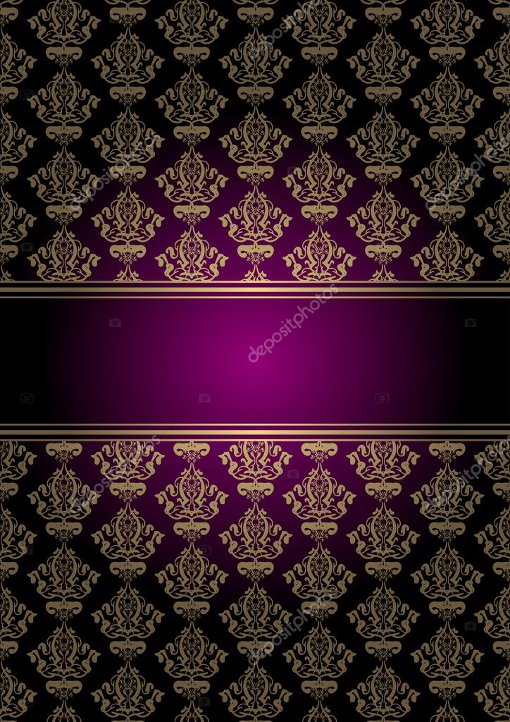 vector purple and gold background � stock vector