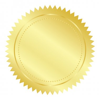 Vector illustration of gold seal clip art vector