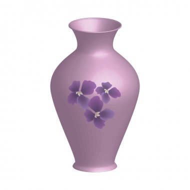 Purle decorated vase